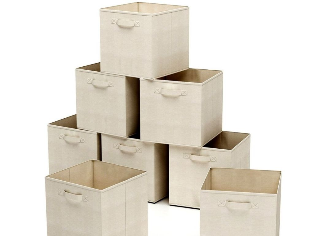 Classic Cuisine Fabric Storage Cubes stacked