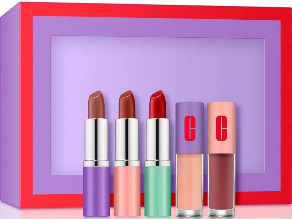 clinique 5 piece lipstick set