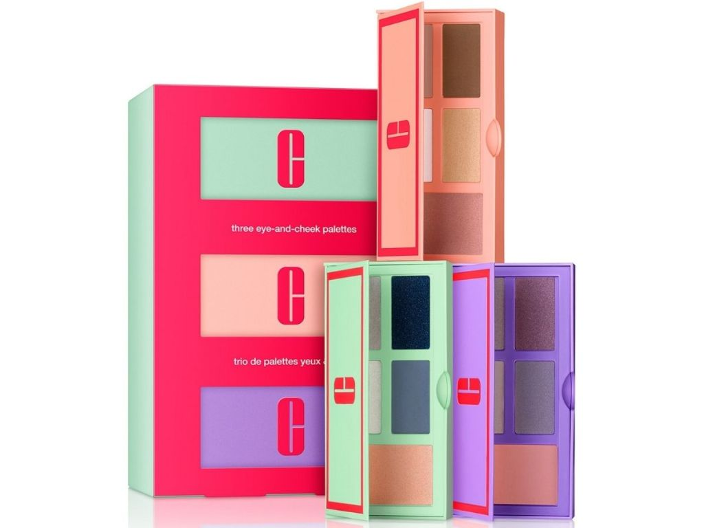 Clinique blush and eyeshadow gift set