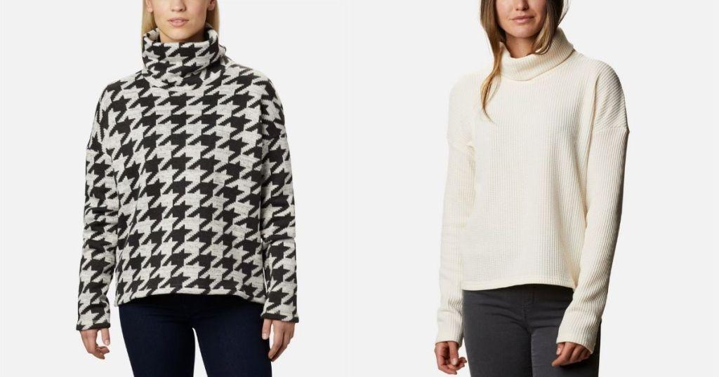 2 ladies in Columbia Women's Chillin Pullover