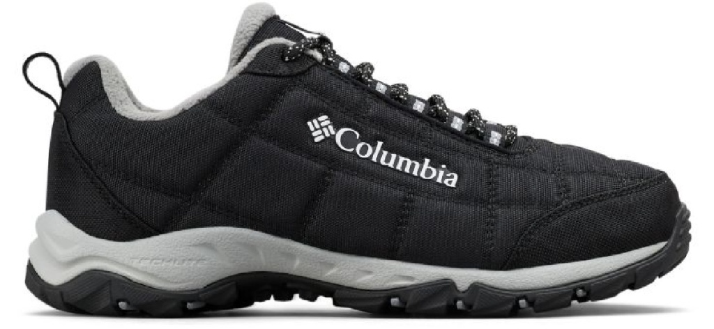 black and white Columbia shoes