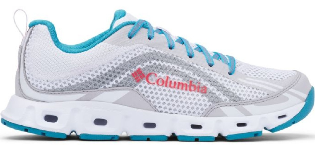 blue white and gray Columbia shoes
