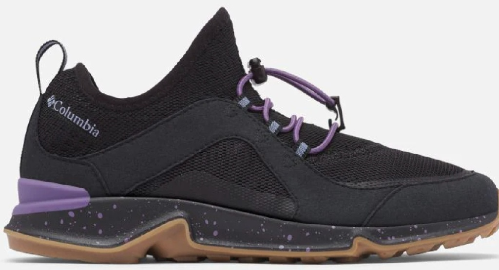 Columbia black and purple shoes