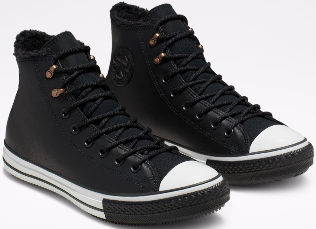 gore-tex black and white converse boots