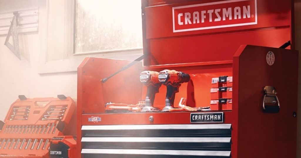 Craftsman Tool Chest with tools in it