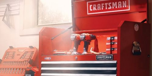 Craftsman 4-Drawer Steel Tool Chest Only $209 on Lowes.com | Has Charging Area for Power Tools