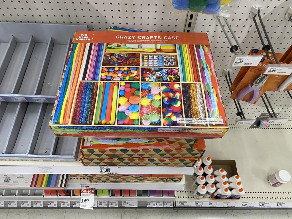 Crazy Crafts Case on store shelf