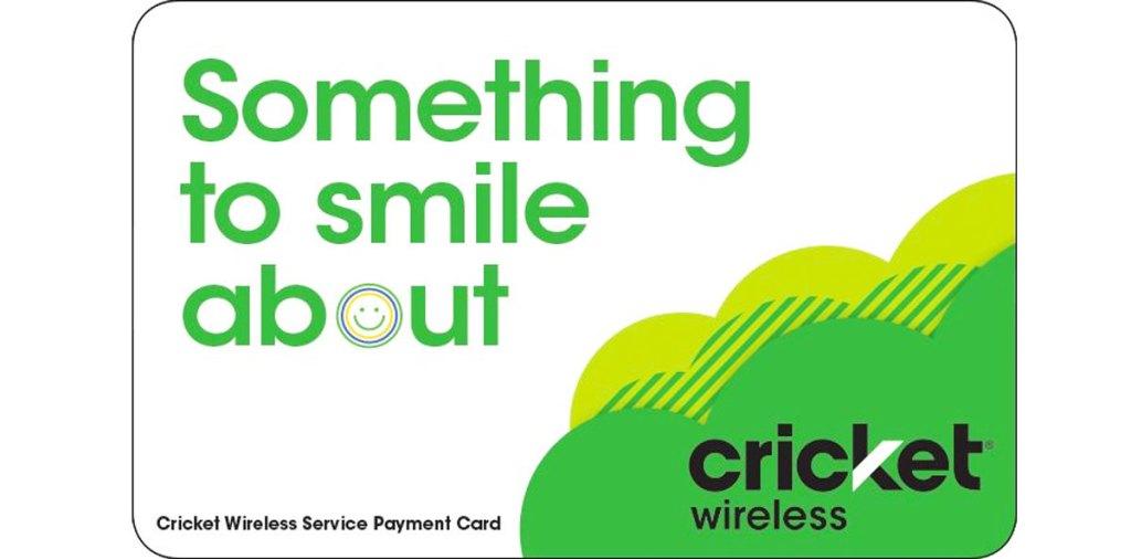 white and green cricket wireless prepaid phone card