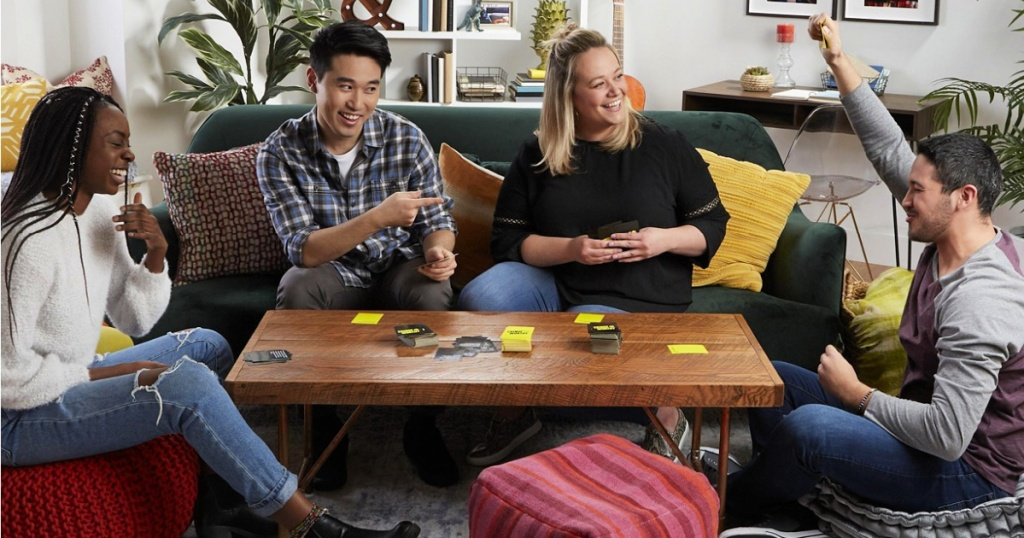 young adults playing Cringeworthy Adult Party Game