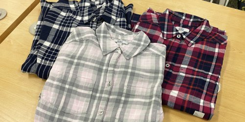 Women's Flannel Shirts from $12.59 (Regularly $36) | Select Kohl's Cardholders Score Free Shipping