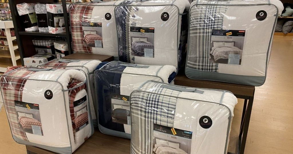 Cuddl Duds Clearance Comforter Sets on display
