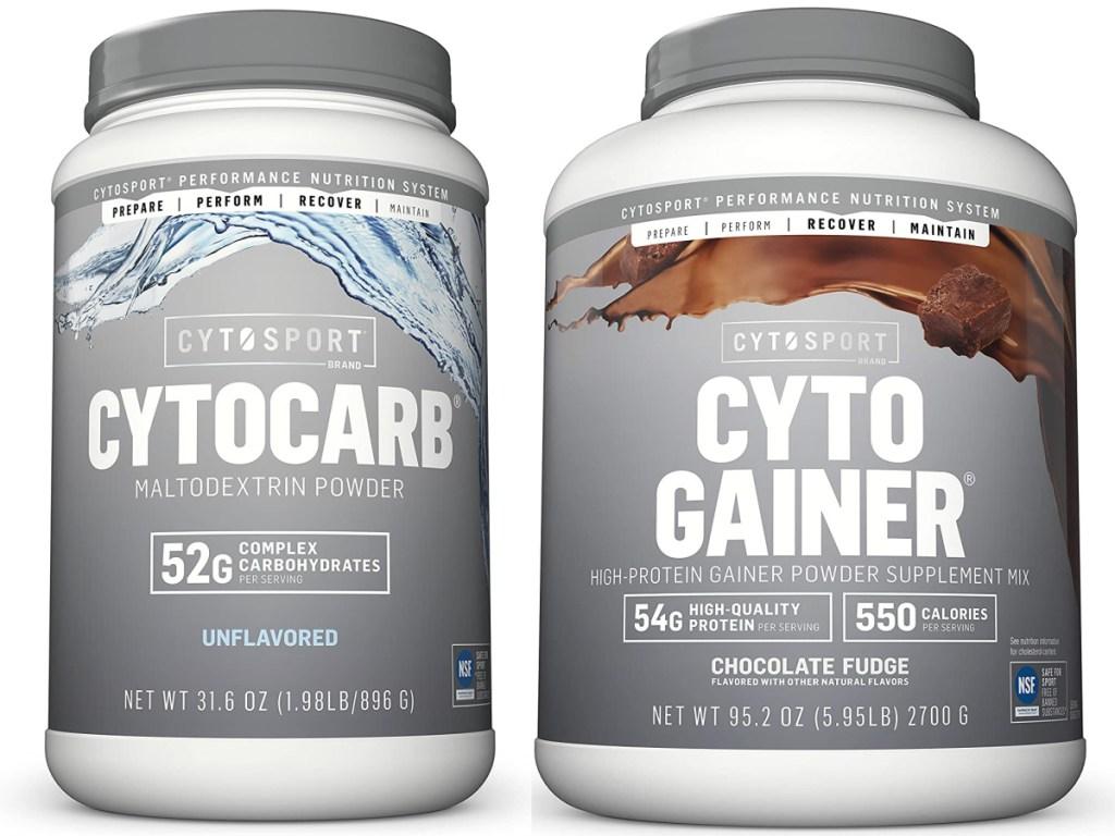 Cytosport Cytocarb Maltodextrin Powder Complex Carbohydrates Unflavored 1.98-lb and Cyto Gainer Protein Powder, Chocolate Fudge 6-Pound