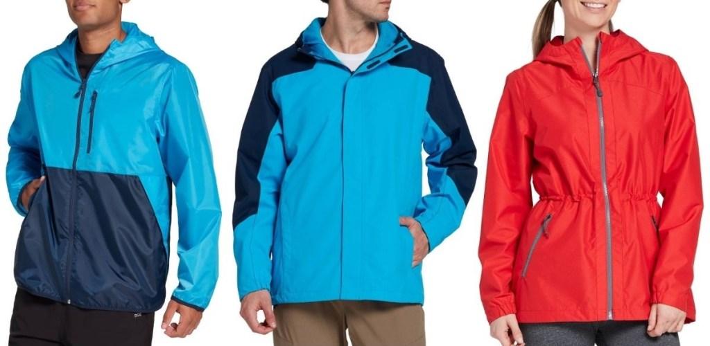 three adults wearing jackets