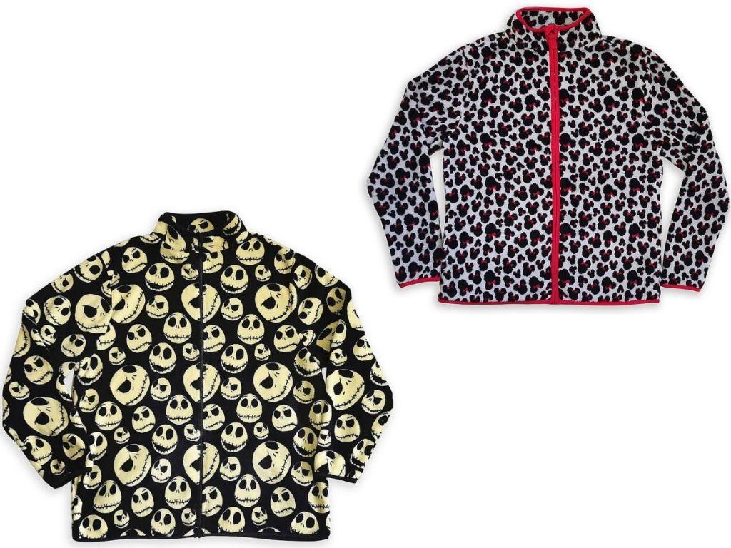 Two Disney Adult Fleece Jackets
