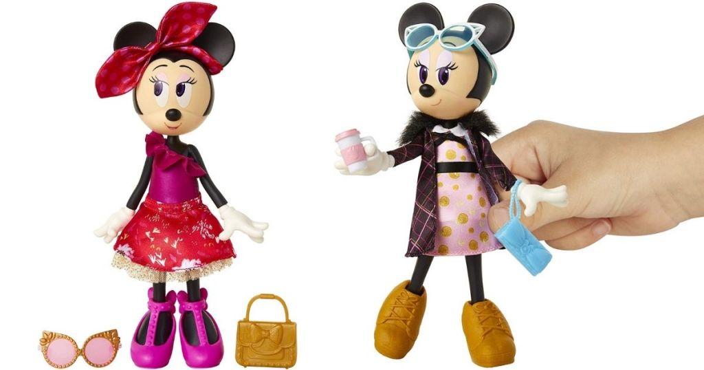 2 Disney Minnie Mouse Dolls