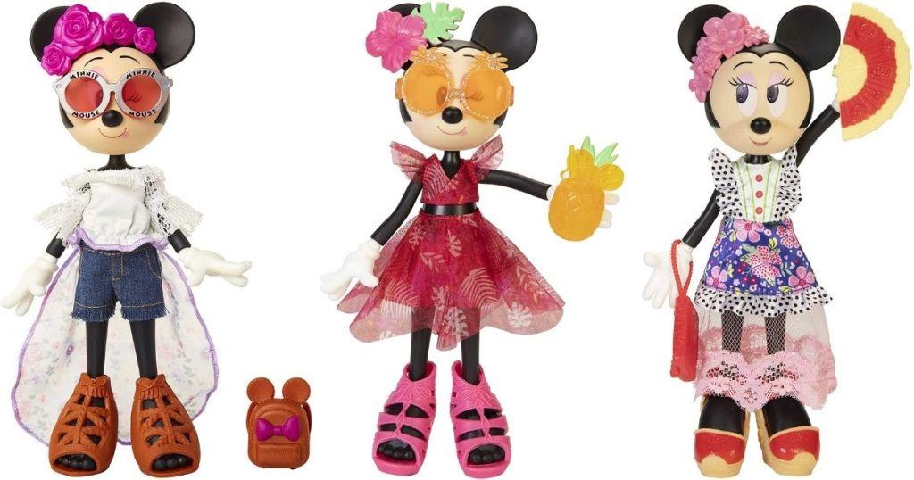 3 Disney Minnie Mouse Dolls