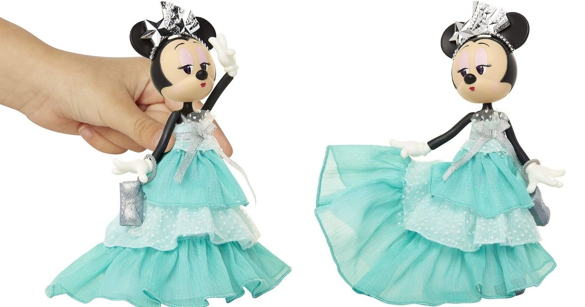 2 views of Disney Minnie Mouse Special Edition Poseable Doll
