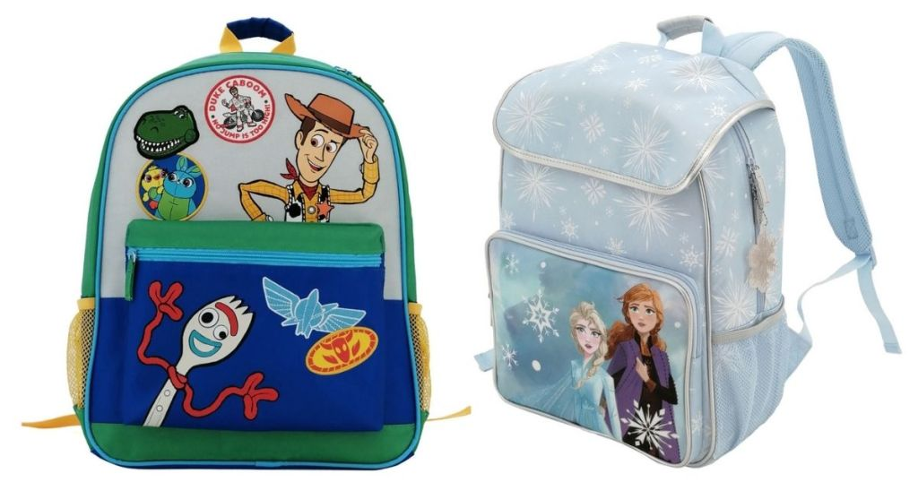 2 Disney Toy Story and Frozen 2 Backpacks
