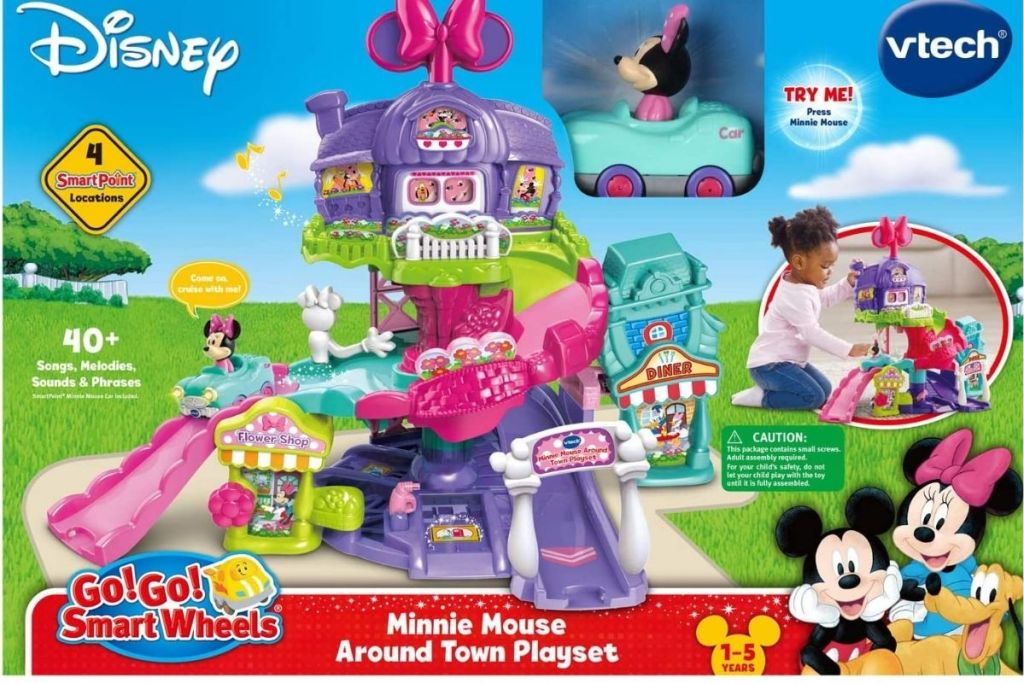 Disney VTech Minnie Mouse About Town Playset Package/Box
