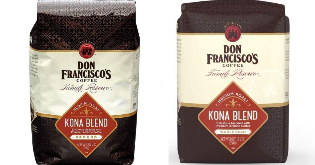 Don Francisco's Kona Blend Coffee bags