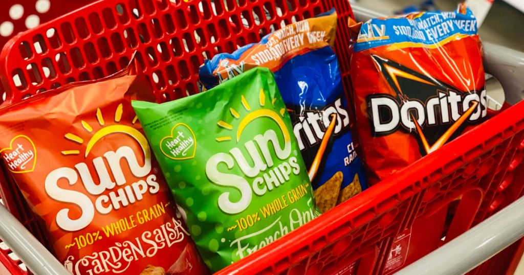 chips in red cart