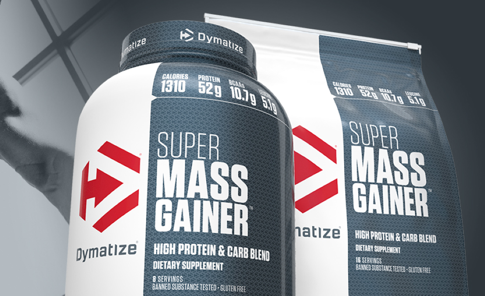 Dymatize Super Mass Gainer containers