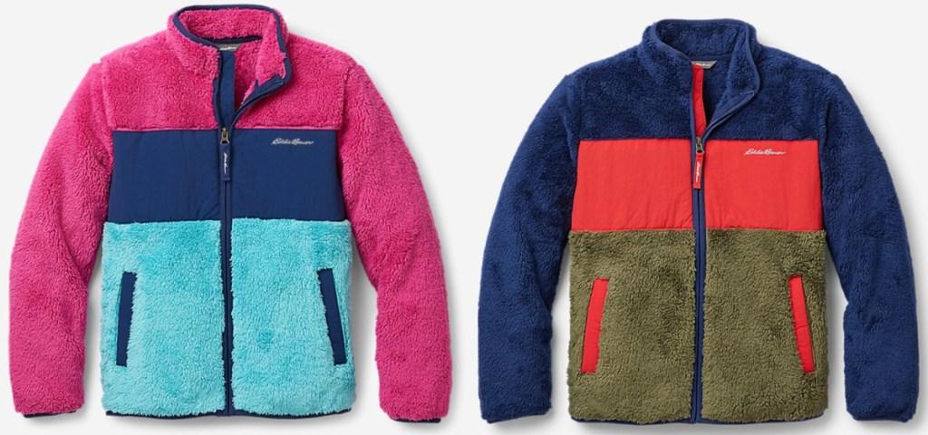 2 fleece eddie bauer kids jackets
