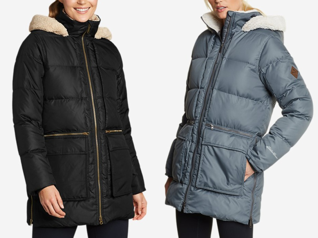 hooded eddie bauer down parkas