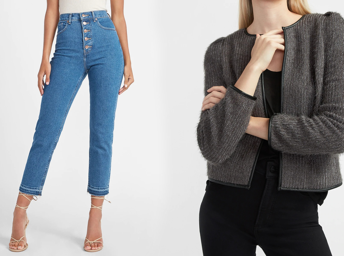 Express women's clothing - jeans and coat