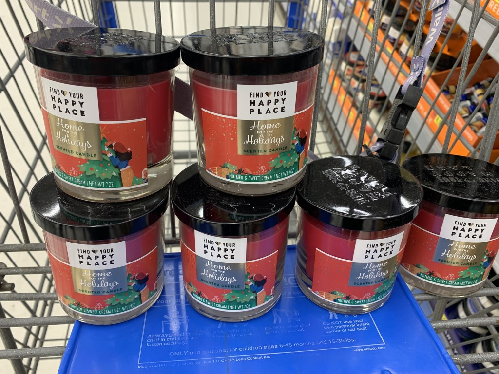 Find Your Happy Place Candles in store cart