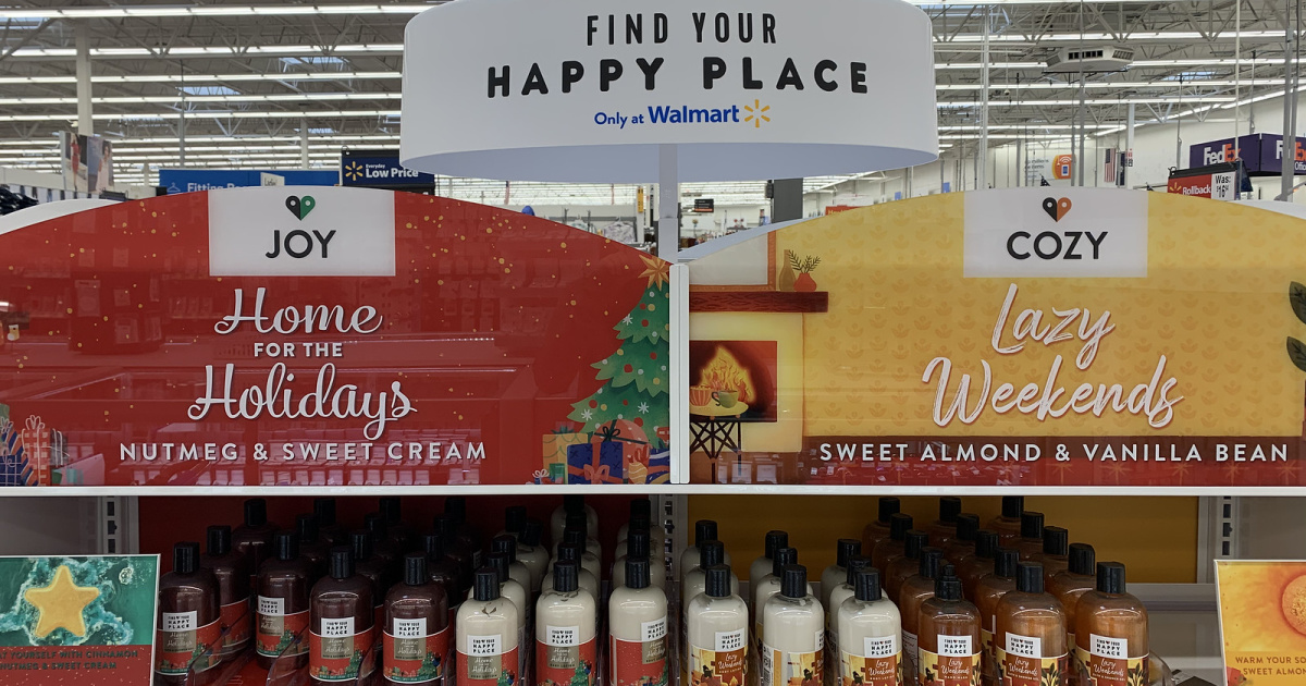 Find Your Happy Place items on display at walmart