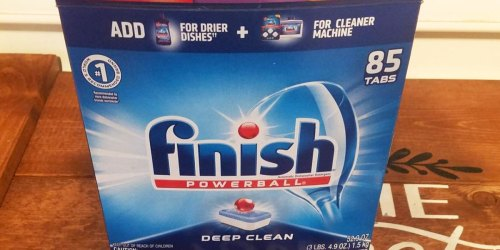 Finish Dishwasher Detergent Tablets 170-Count Only $17 Shipped on Amazon