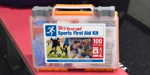 100-Piece Sports First Aid Kit Only $15 on Amazon (Regularly $27)