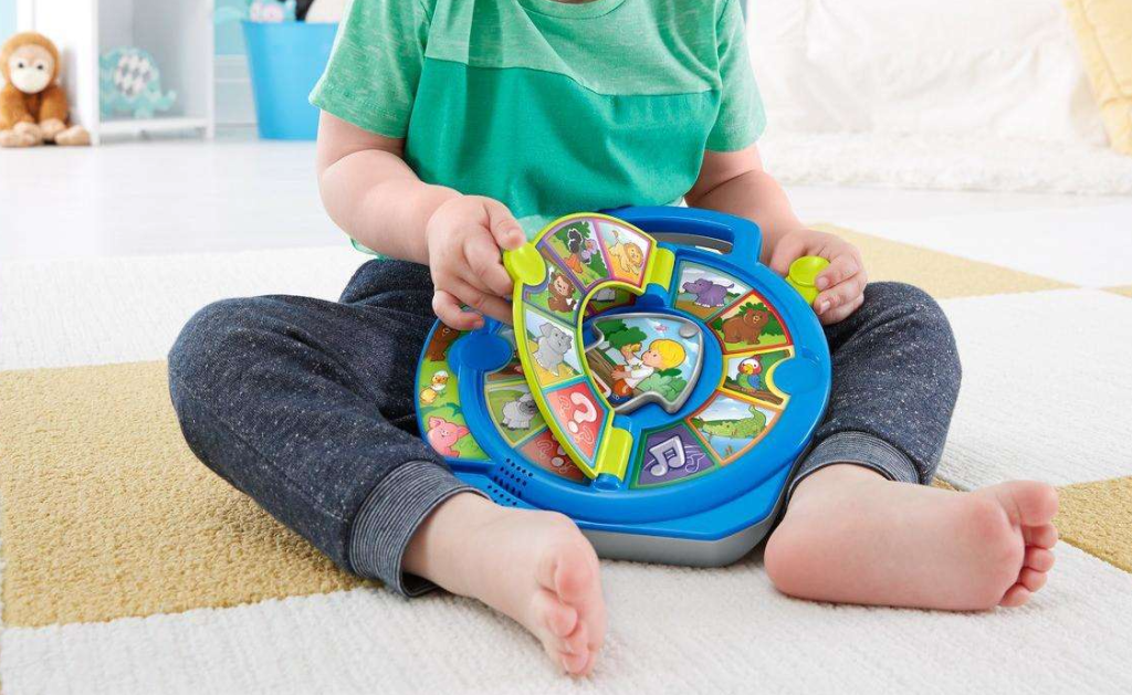 boy playing with a toy