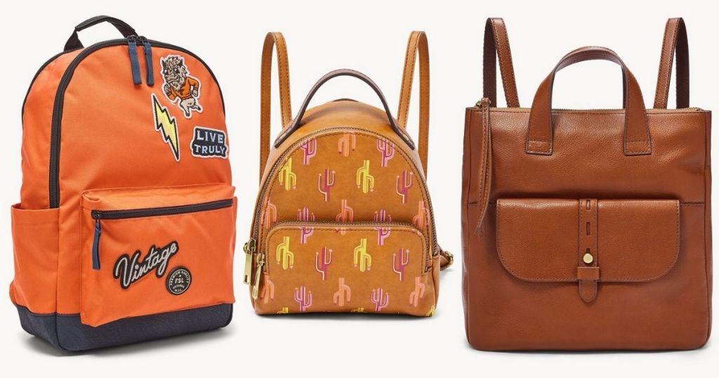 3 Fossil Backpacks