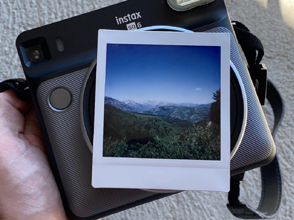 fujifilm instax square photo with an instax square camera