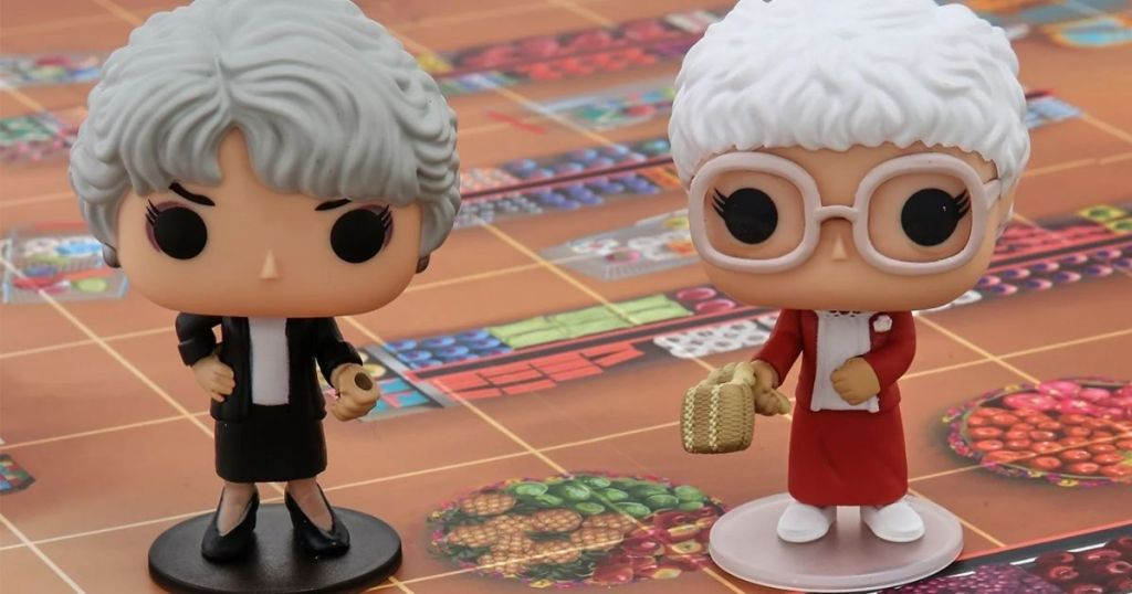 Funkoverse Golden Girls Gamepieces on game board
