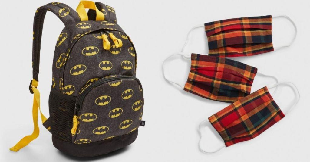 GAP Backpack and Masks