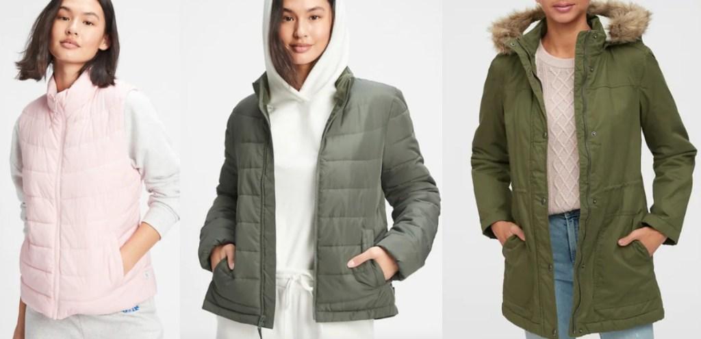 three GAP womens jackets