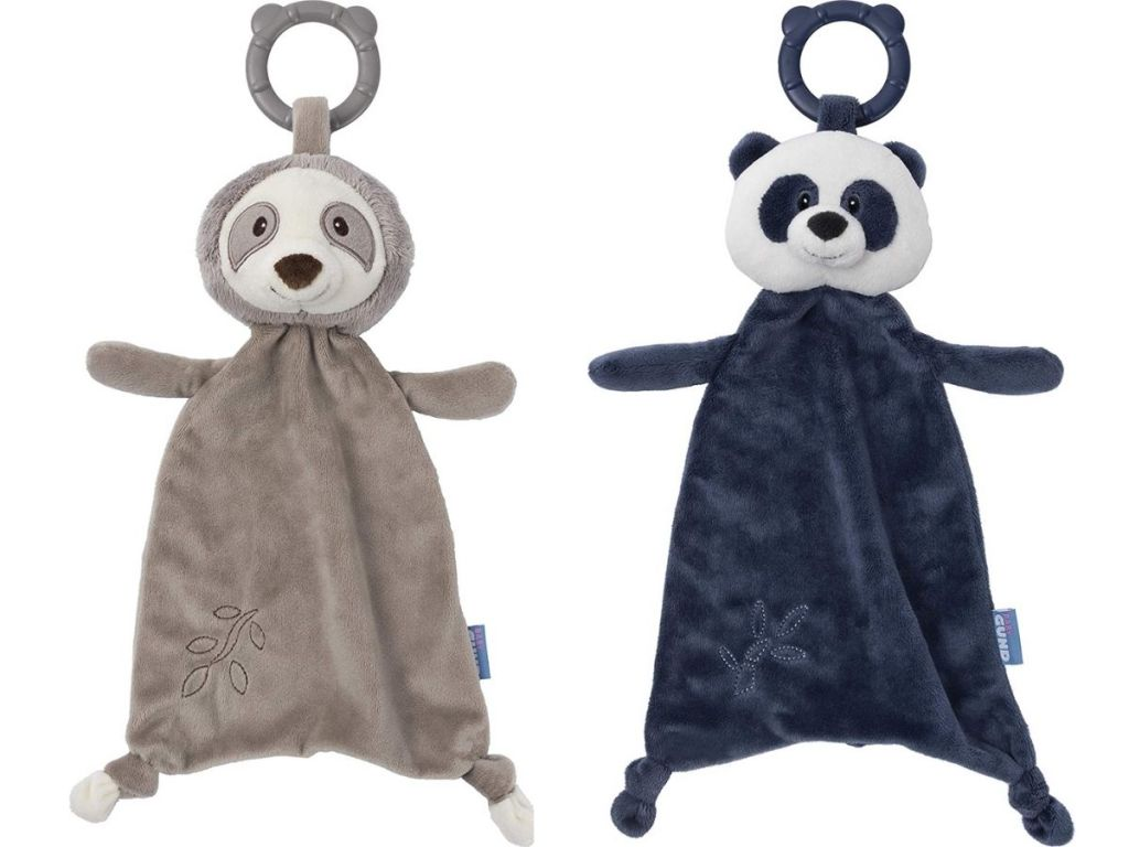 GUND Teether sloth and panda