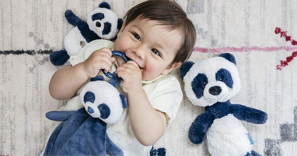 baby with a panda GUND Toothpick Teether
