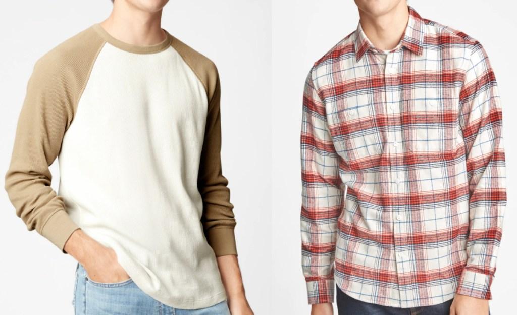2 men wearing Gap Factory tops
