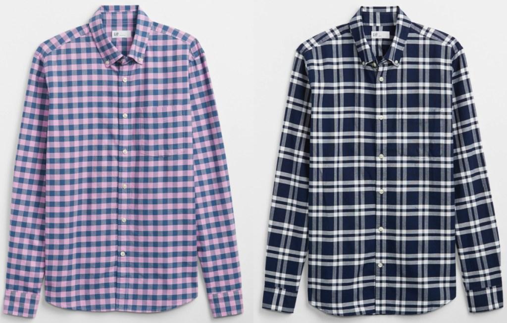 2 men's oxford gap shirts