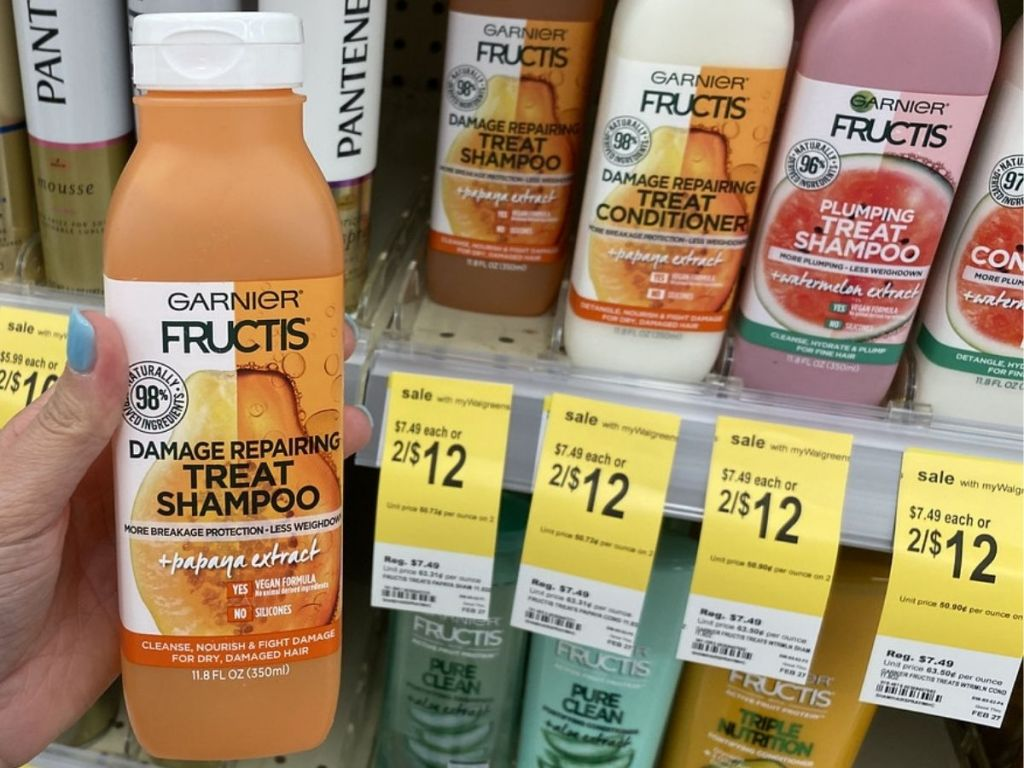 Garnier Fructis Treat Shampoos and Conditioners