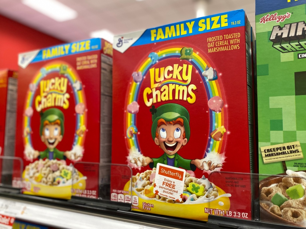 lucky charms family size cereals