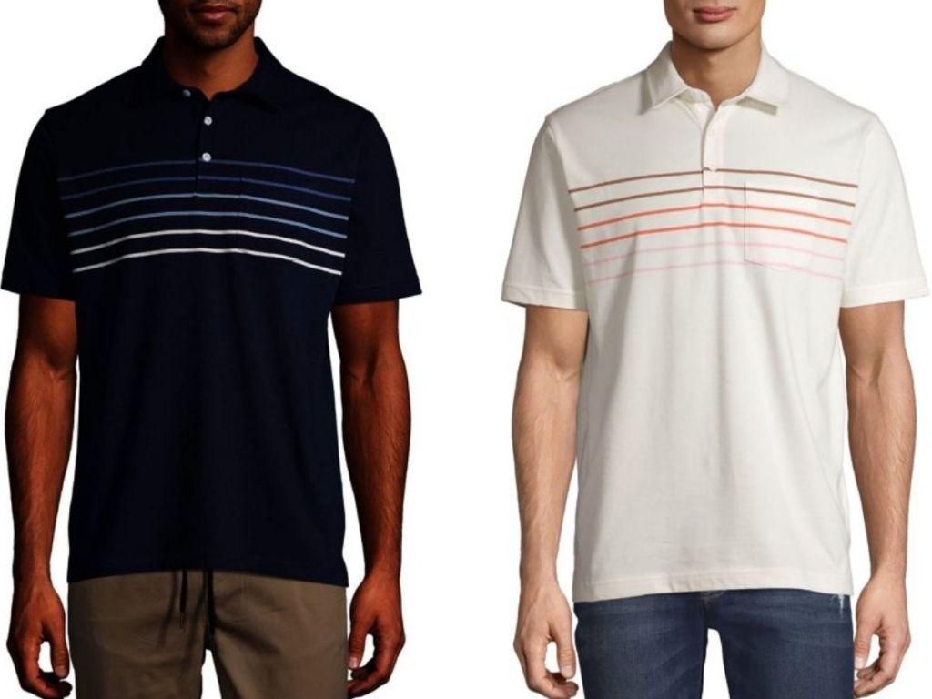 George men's striped polo shirts