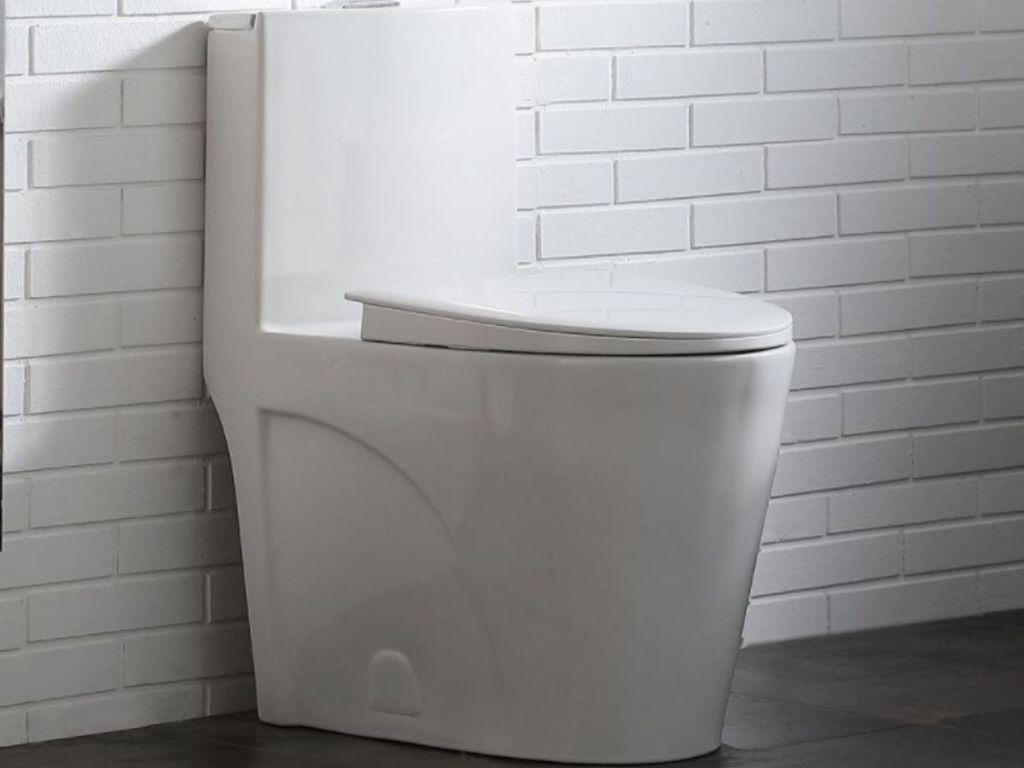 Glacier Bay white toilet