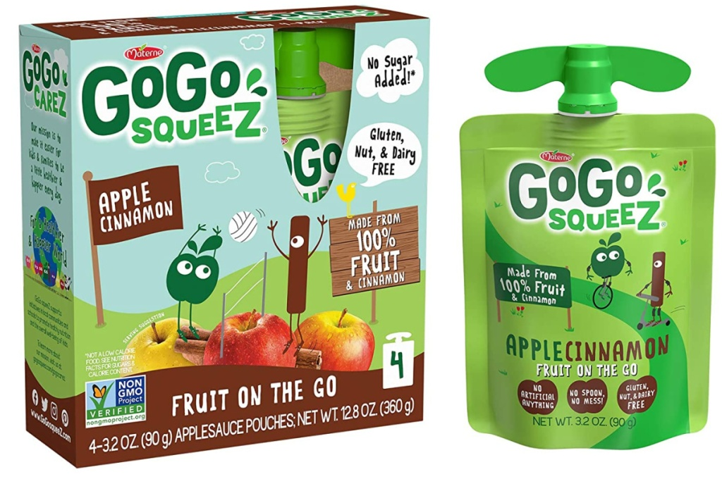 Gogo Squeez tube near package