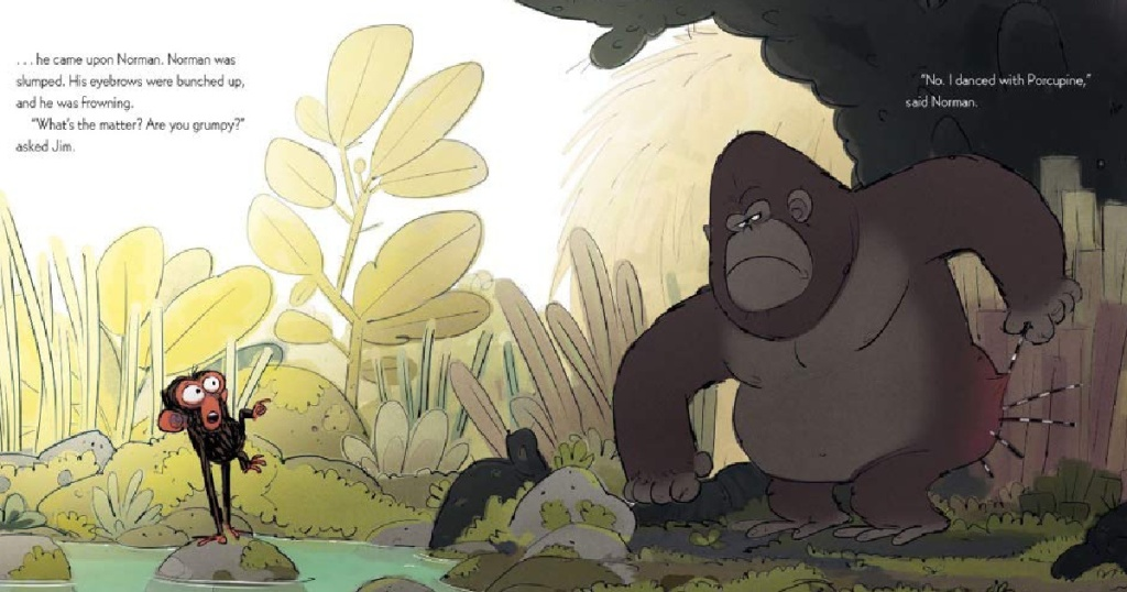 Grumpy Monkey illustrated page