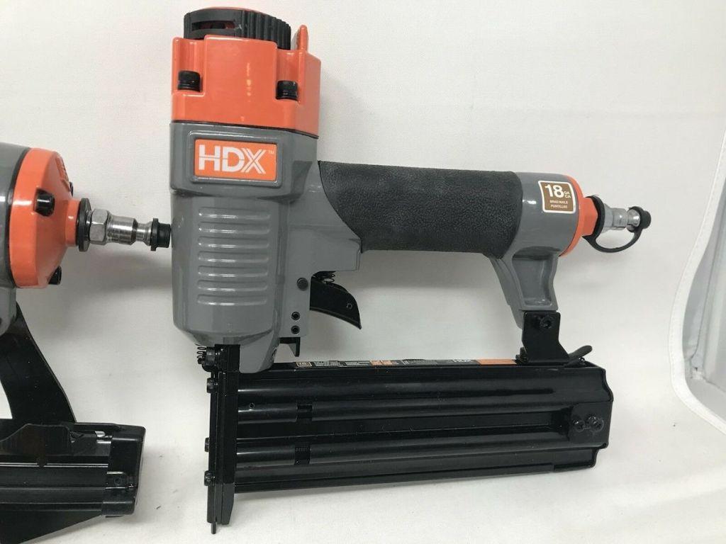 image of HDX Pneumatic Finishing Nailer Kit